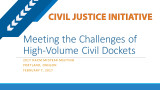 Meeting the Challenge of High-Volume Civil Dockets