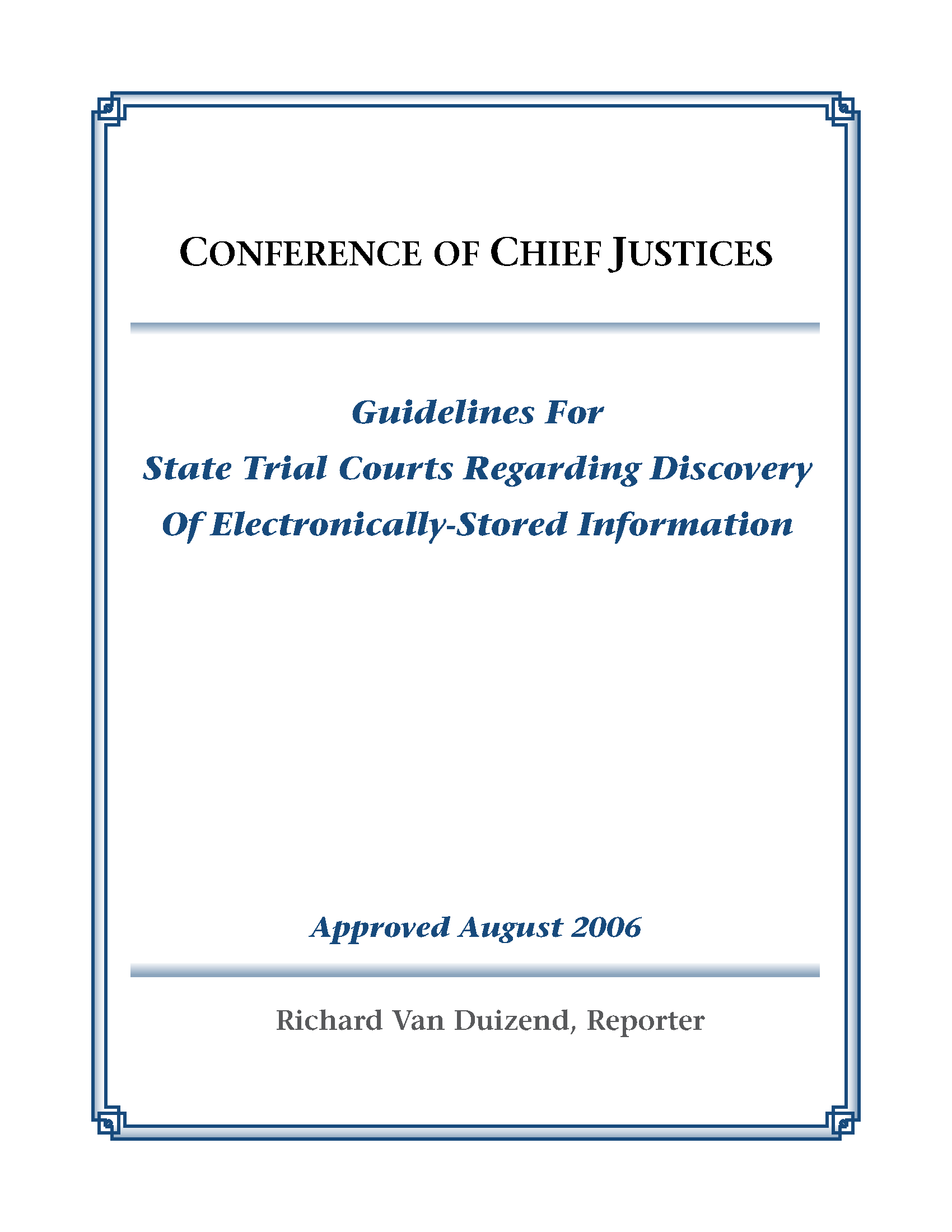 Guidelines For State Trial Courts Regarding Discovery Of Electronic Circuits Questions And Answers Pdf Electronically Stored Information