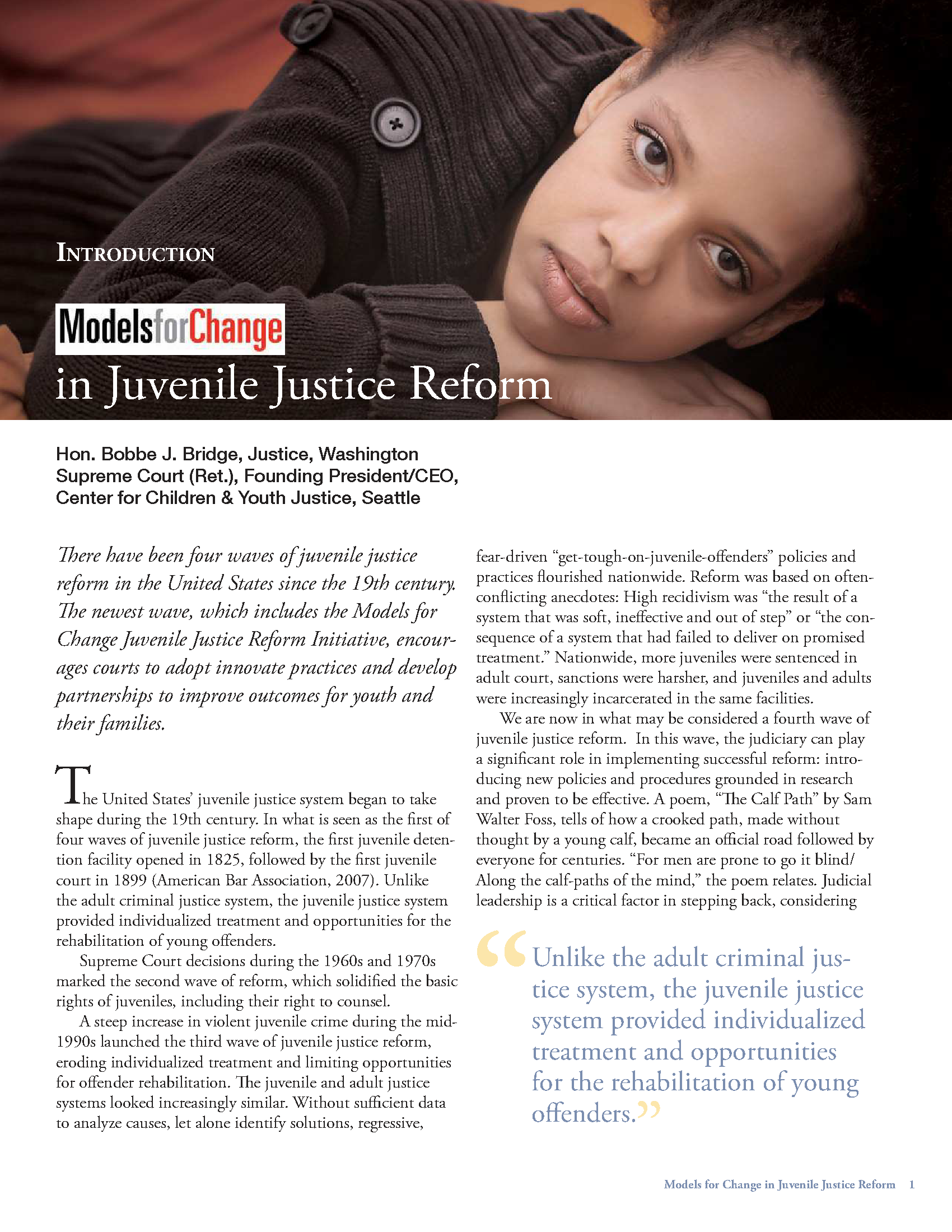 prevention rehabilitation and punishment in juvenile justice system Reaffirming rehabilitation in juvenile justice the juvenile justice system in the united less punishment -or more center on juvenile and criminal justice.